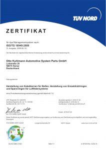 OTTO KUHLMANN Zertifikat TS 16949 de